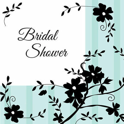 Two Love Birds Tiffany Blue Wedding Or Engagement Party Supplies Napkins ~ 16 Pk