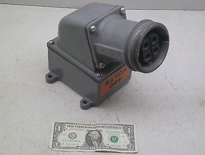 Russellstoll Jrfa634H/Rcpt 60A Amp 250V/600Vac Receptacle W/ Angle Adapter Fship