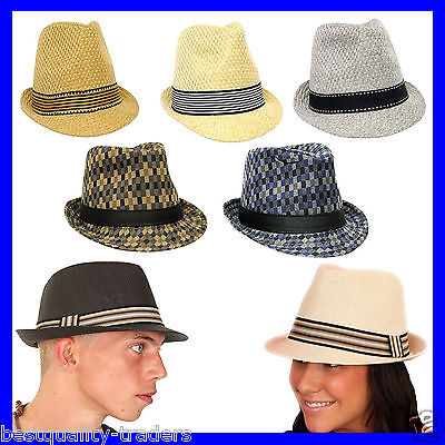 Unisex Mens Womens  Top Quality Trilby Hat with Various Colours  Band