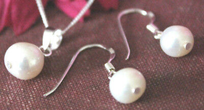 925 sterling silver freshwater pearl earring and pendant set