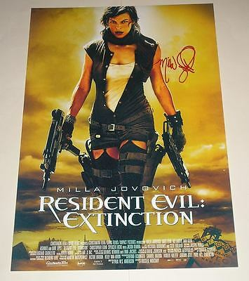 "Resident Evil 3 Pp Signed Poster 12""x8"" Milla Jovovich"