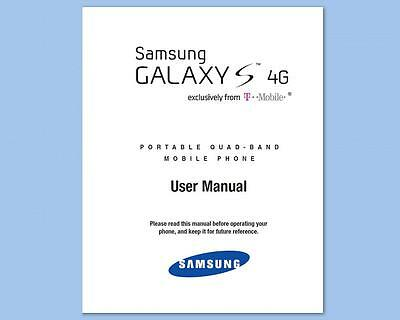Samsung Galaxy S 4G Smartphone User Manual for T-Mobile (SGH-T959V)