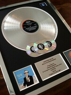 Frank Sinatra Come Fly With Me Lp Multi Platinum Disc Record Award Album