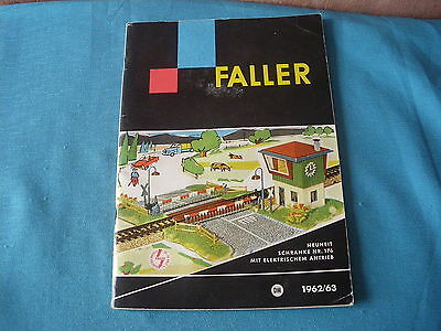 466 H Faller 1962/63 Catalogue 64 Pages Maquettes Gares Avions Figurines...