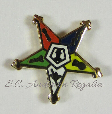 Masonic Order of the Eastern Star OES Lapel Pin Mason Freemason