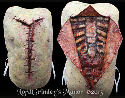 Autopsy Chest Piece With Opening and Back Piece Halloween Prop Horror Mad