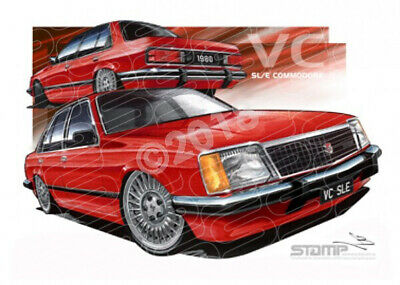 Commodore VC 1980 VC SLE COMMODORE RED  FRAMED PRINT (HC121)-New_Itemq