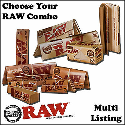 Raw Kingsize Papers - Slim Organic Hemp Rolling Papers Tips Connoisseur