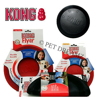 Kong Flyer Original Frisbee Rubber Dog Toy Small Large