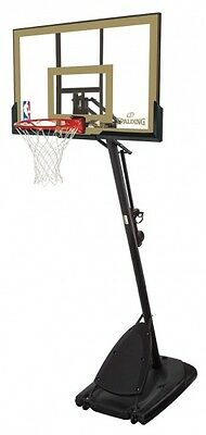SPALDING NBA GOLD 3MTR ADJUSTABLE PORTABLE BASKETBALL System Stand Net Ring