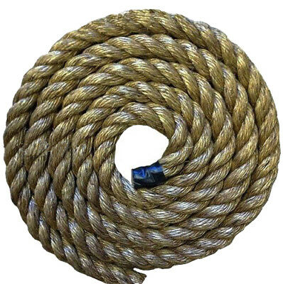 25MTS x 32MM THICK GRADE 1 MANILA DECKING ROPE FOR GARDEN & DECKING ROPE, AREAS