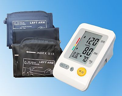 AUTOMATIC DIGITAL ARM BLOOD PRESSURE MONITOR/LARGE 30-42cm + MED CUFFS 22-36cm
