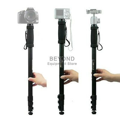Portable Tripod Camera Aluminium Alloy Telescopic Monopod for Canon Nikon DSLR