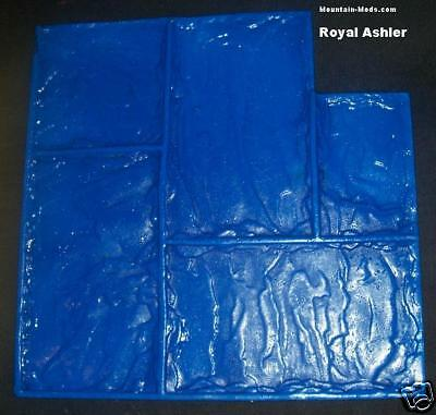 4 Piece Set Royal Ashler Slate Decorative Concrete Cement Overlay Stamps mat New