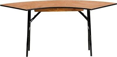5.5 ft. x 2.0 ft. Serpentine Wood Folding Banquet Table - Serpentine Table