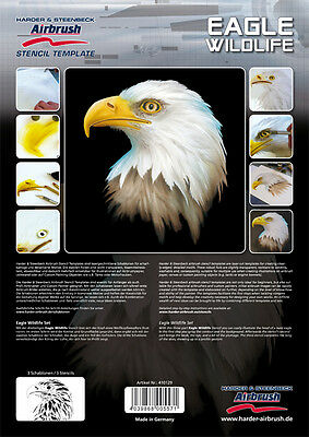 Harder & Steenbeck Airbrush Stencils - Eagle Wildlife