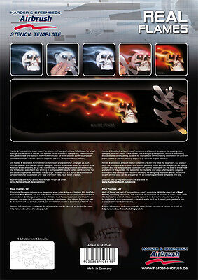 Harder & Steenbeck Airbrush Stencils - Real Flames