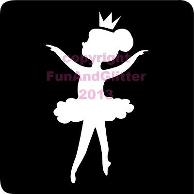 FG076 - 5 BALLERINA STENCIL for Glitter and Ink Tattoo's