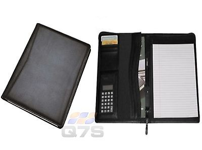 Delux Leather Zip Around Conference Folder with Calculator- A4