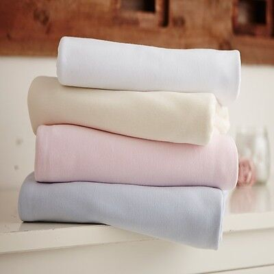 Clair de Lune 100% Jersey Cotton Fitted Sheets 2 Pack Moses, Crib, Cot, Cot Bed