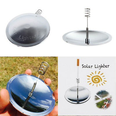 Solar Lighter Cigarette Lighter  Fire Spark Waterproof Toy Gift Nice for Camping