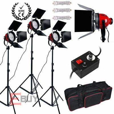 2400W 3X800W Redhead Continuous Lighting Video Photo Red Head Light Kit release