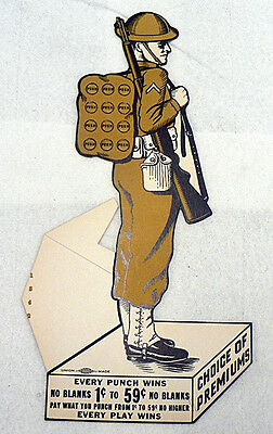 World War I Unused U.s. Soldier Punch Card