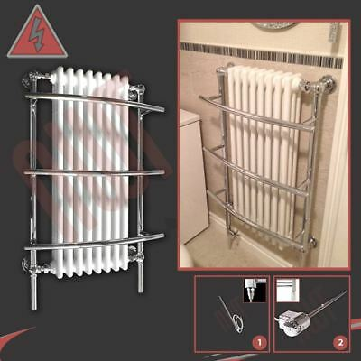 """635mm(w) x 1000mm(h) """"Tranmere"""" Traditional Electric Heated Towel Rail - 600W"""