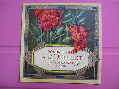 1 Ancienne Etiquette Poudre /antique Powder Label French Paris /profumo Label