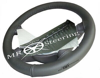 For Mercedes E Class W211 02-08 Real Dark Grey Leather Steering Wheel Cover