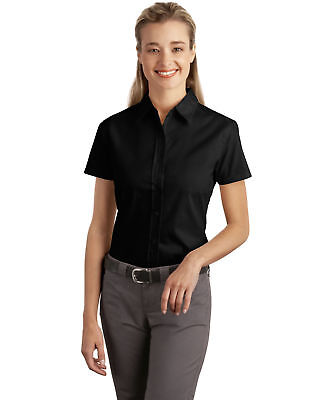 Port Authority Ladies New Easy Care Button Front Short Sleeve Shirt XS-4XL. L507