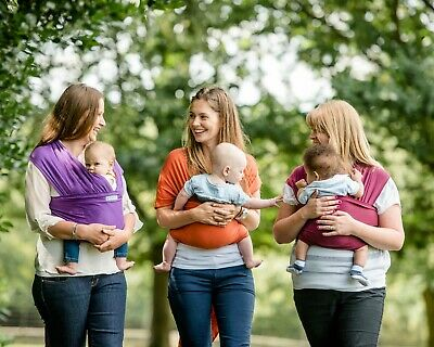 AmaWrap newborn stretchy baby wrap sling / carrier - Suitable from Birth