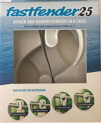 boat fender Clip Fastfender To suit 25mm Rails Fast Fender adjuster Boat Marine