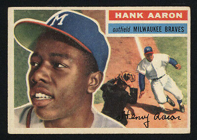 1956 Topps ~ #31 ~ Hank Aaron ~ Milwaukee Braves Outfielder ~ Hall Of Fame