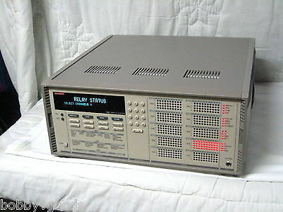 Keithley 7002 Full Rack Switch System 10 Slot Mainframe With 7164 Switch Card