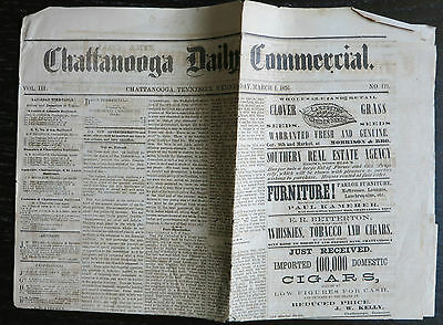 March 1, 1876 CHATTANOOGA TENNESSEE DAILY COMMERCIAL Newspaper