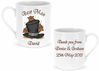 Personalised Best Man / Usher / Page Boy Mug - Ideal Wedding GIFT for Guests
