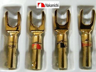 Lot 2 Paires Fourches Nakamichi Gold 24 K   High Définition Audiophile