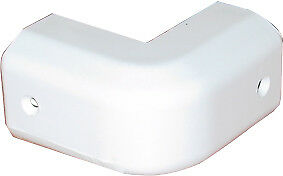 Gunwale End Caps-Gunnel corner cap  WHITE Fender strip cap NEW x 2 pces