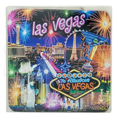 Las Vegas Souvenir Cork Coasters Set Of 4