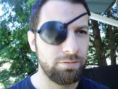 Pirate leather eye patch, you choose your color!  Made of heavy 9 oz leather.