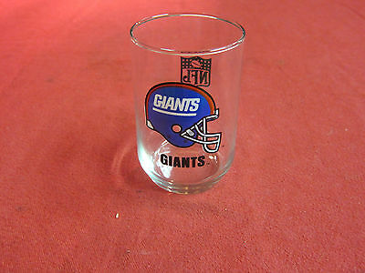 Vintage NY Giants Glass made by Libbey Mobil Gas Promotion New Old Stock