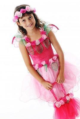 NEW Fairy Girls Primrose Fairy Dress - Pink (Size Large - suits 6-8yrs)