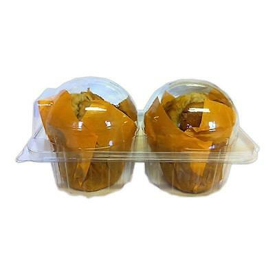 100 x Double / Twin Plastic  Cupcake /Muffin Cases-Pods Domes Cup Cake Boxes