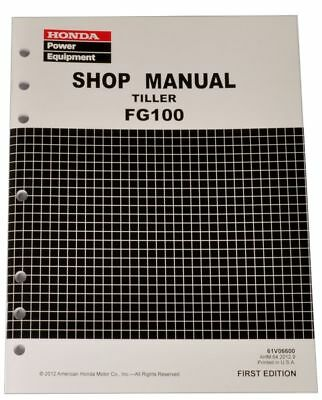 Honda FG100 Tiller Service Repair Shop Manual