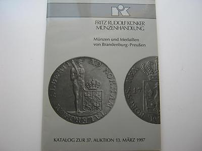 Kunker coin auction catalogue, number 37, 13/03/1997.