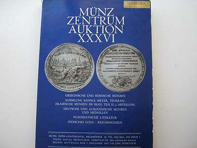 Munz Zentrum coin auction catalogue, number xxxvi, 7/11/1979.