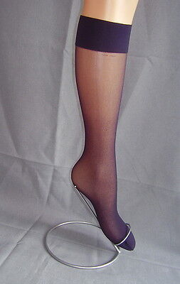 Silky Pop socks, knee high, trouser, smooth knit, one size, 2 pair pack,