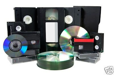 5 X 8mm/Hi 8/Digital 8/VHS C/Mini DV TO DVD VIDEO DISK - 5 Tapes To DVD Transfer