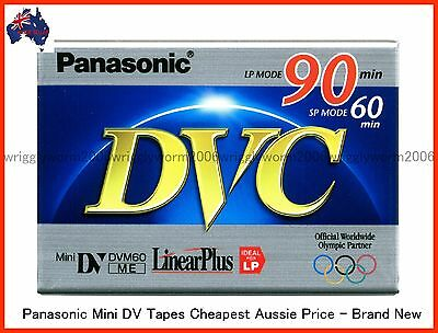 3 X PANASONIC Mini DV Tapes - 60SP/90LP Min Brand New - 3 PACK AUSSIE STOCK